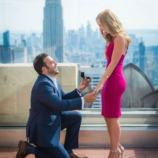 Engagement Proposal Ideas in The Rainbow Room NYC