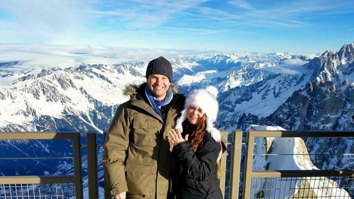 Nicole's Proposal in Chamonix, France