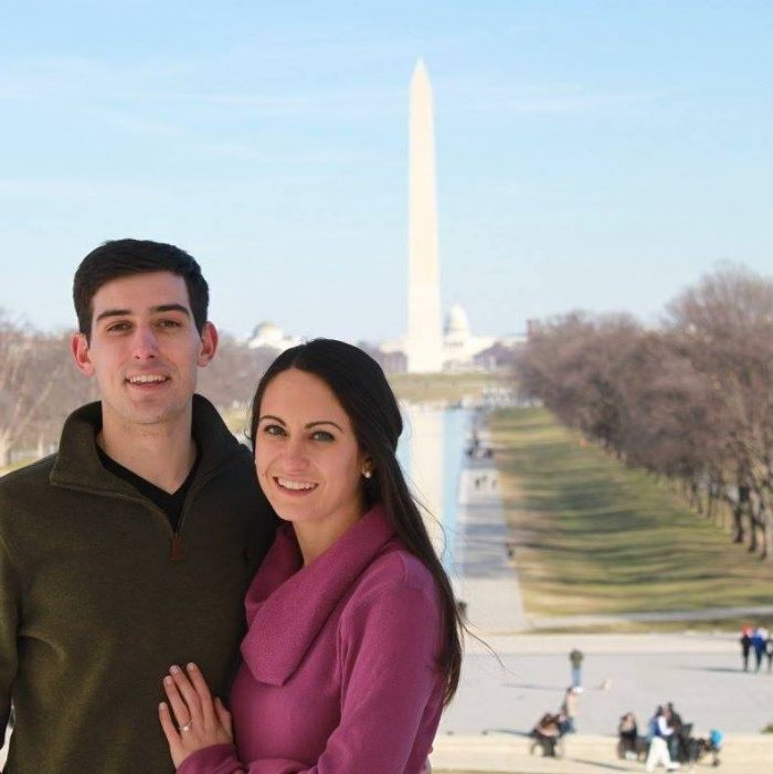 Maggie and Aaron's Engagement in Lincoln Memorial, Washington DC