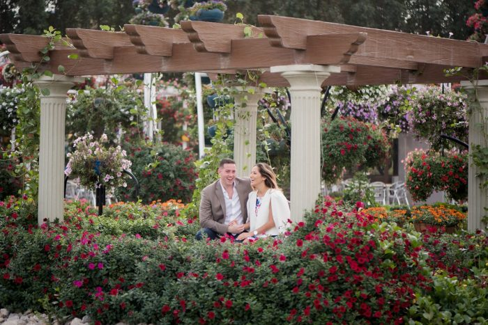 Julie's Proposal in The Dubai Miracle Garden