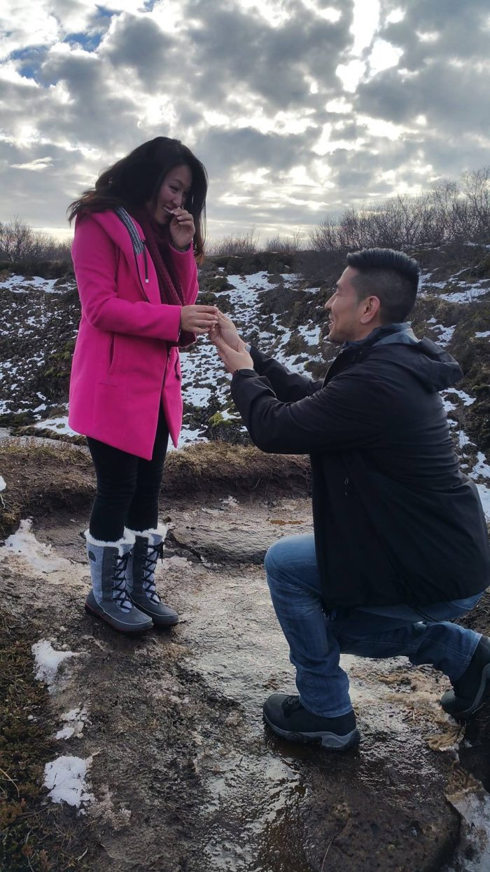 Amber's Proposal in Bruarfoss, Iceland