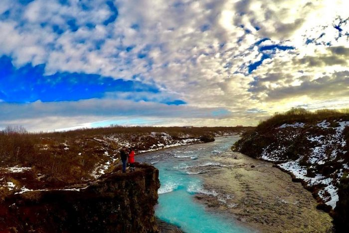 Marriage Proposal Ideas in Bruarfoss, Iceland