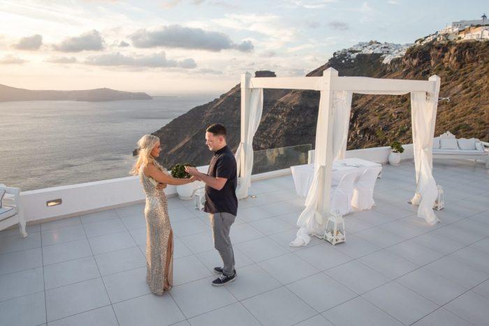 Marriage Proposal Ideas in Santorini Dana Villas
