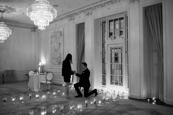Wedding Proposal Ideas in Hawksworth Restaurant, York Room