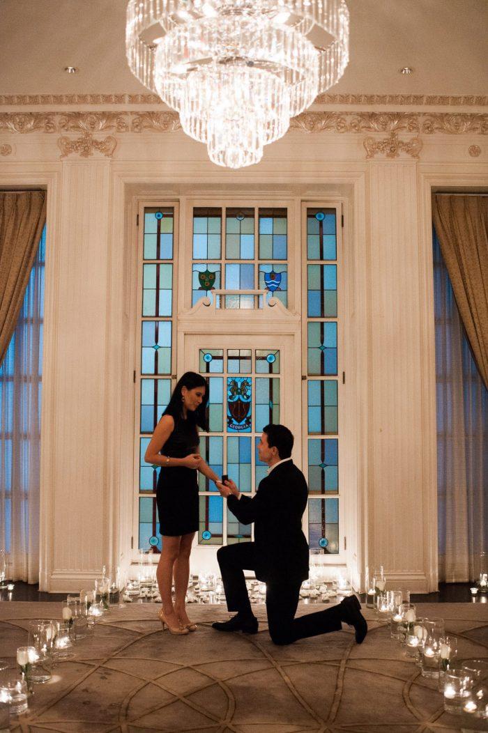 Marriage Proposal Ideas in Hawksworth Restaurant, York Room