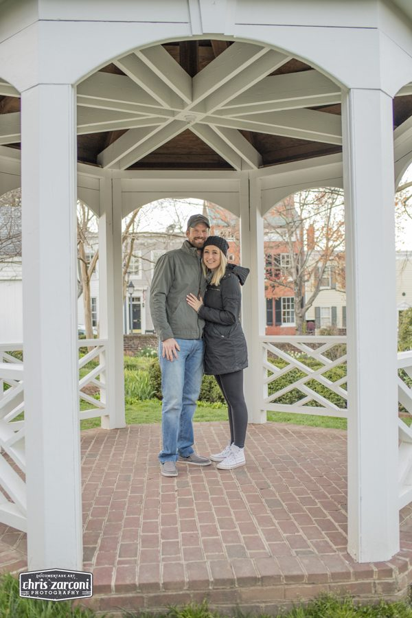 Caitlin and Brent 's Engagement in Old Town Alexandria, VA