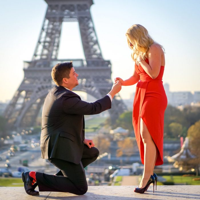 Ashley's Proposal in Paris, France