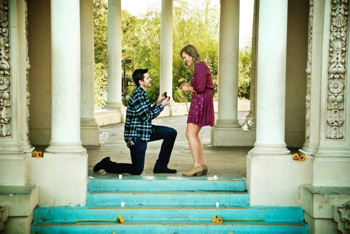 Wedding Proposal Ideas in Balboa Park - San Diego, CA.