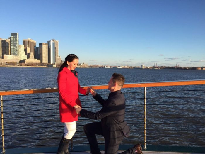 Fernanda's Proposal in Hudson River NYC