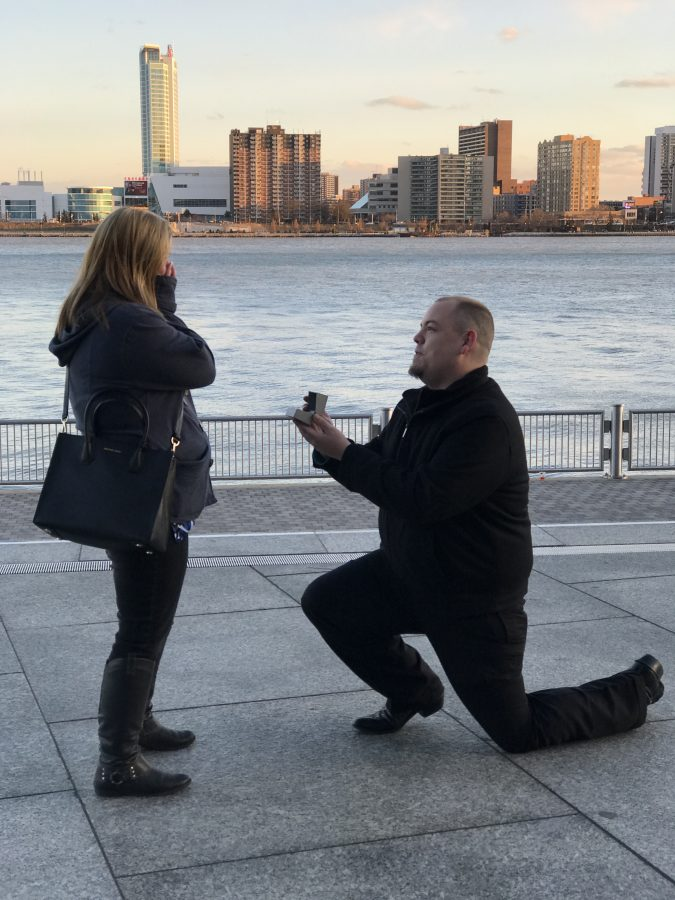 Engagement Proposal Ideas in Detroit by the river front