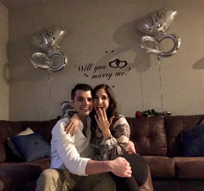 Kristina's Proposal in Our apartment