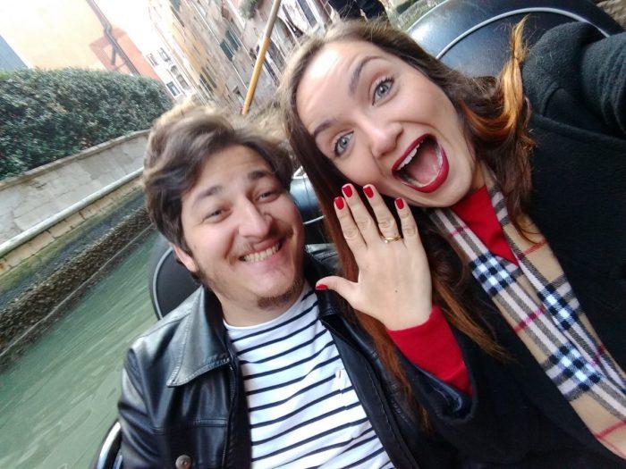 Wedding Proposal Ideas in Veneza, in the gondola