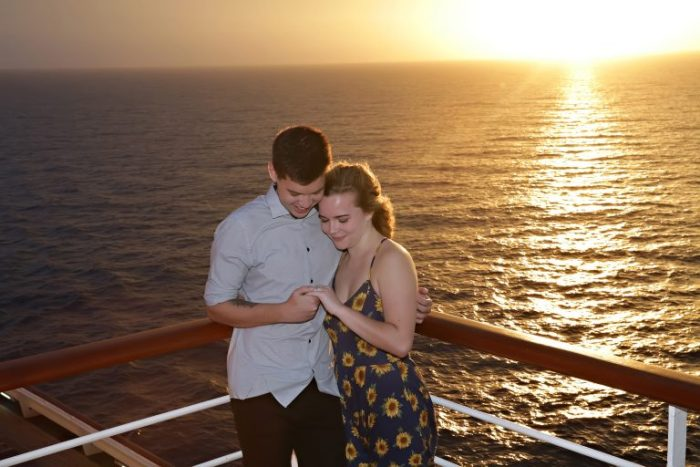 Engagement Proposal Ideas in Cruise Ship