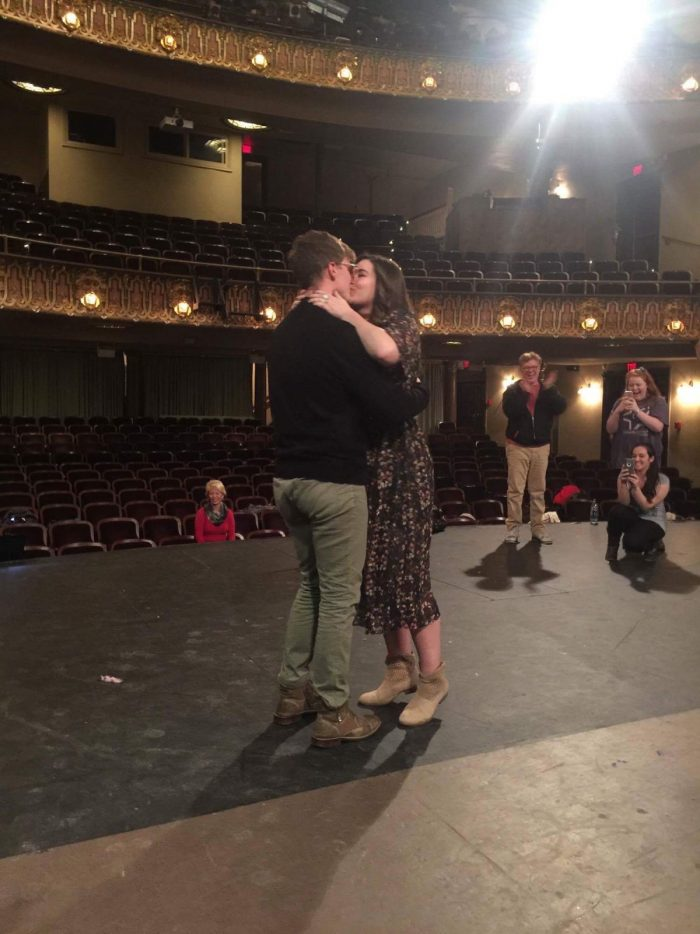 Engagement Proposal Ideas in Springfield Little Theatre