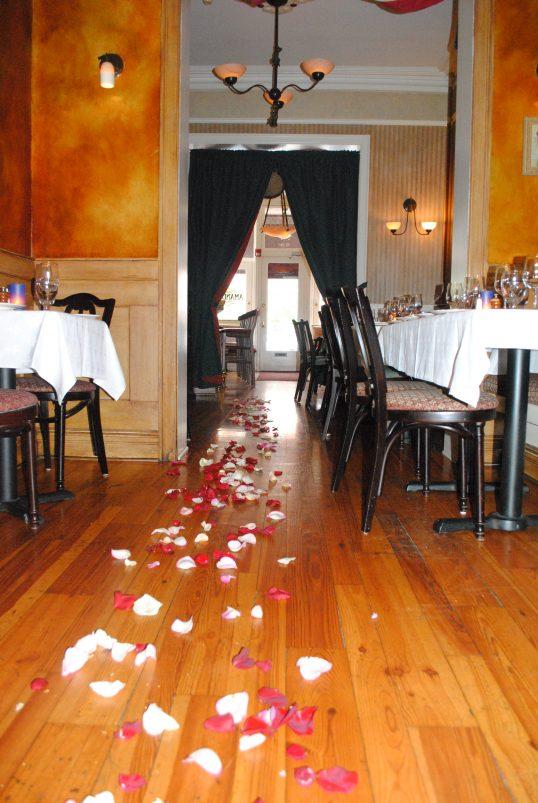 Amanda and Frank's Engagement in Amanda's Restaurant in Hoboken, NJ