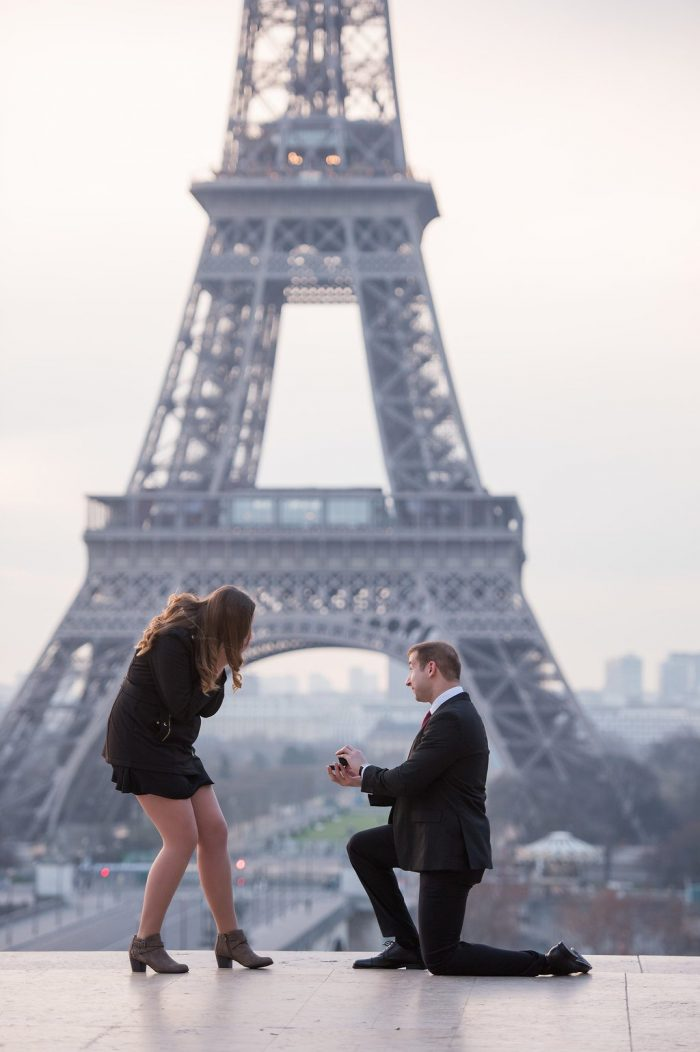 Justina's Proposal in Paris, France