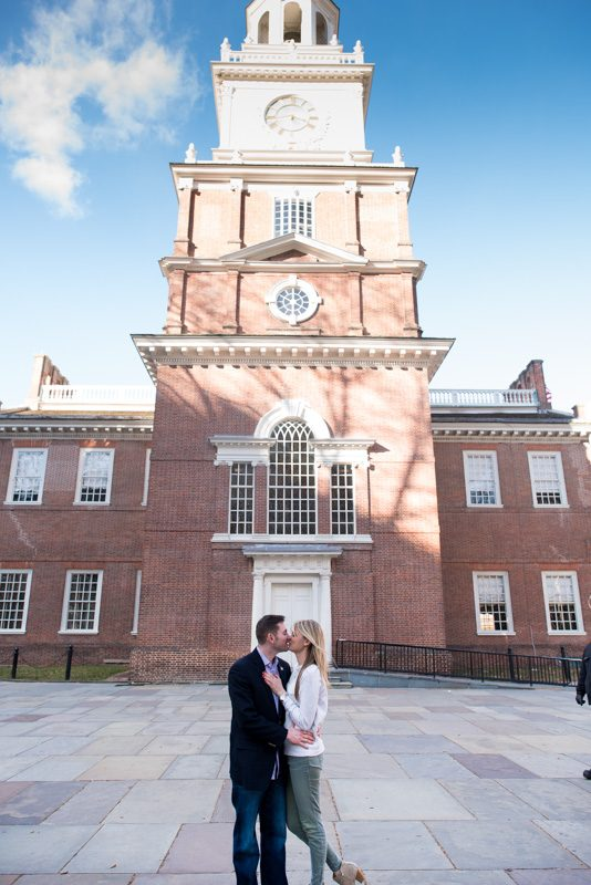 Nora and Cory's Engagement in Independence Hall, Philadelphia PA