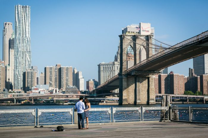 Engagement Proposal Ideas in Brooklyn Bridge Park