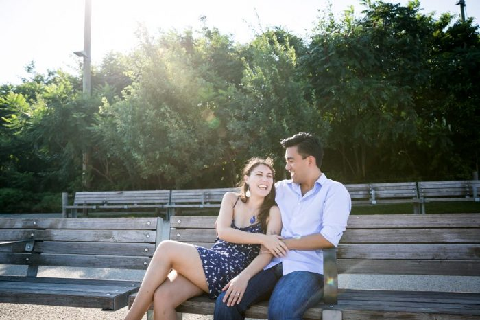 Elena and Mark's Engagement in Brooklyn Bridge Park
