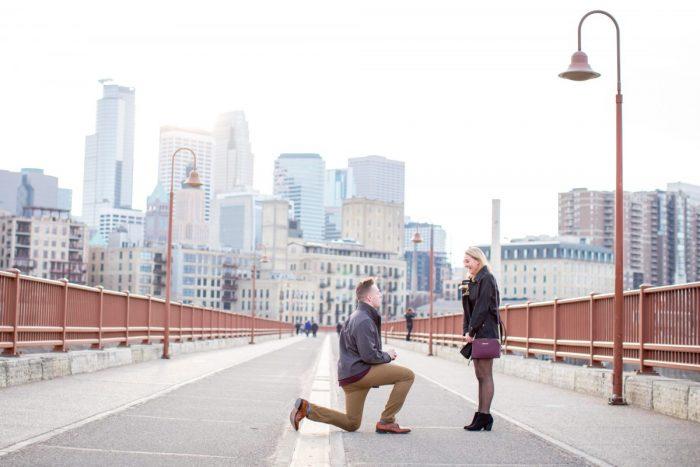 Where to Propose in Stone Arch Bridge Minneapolis