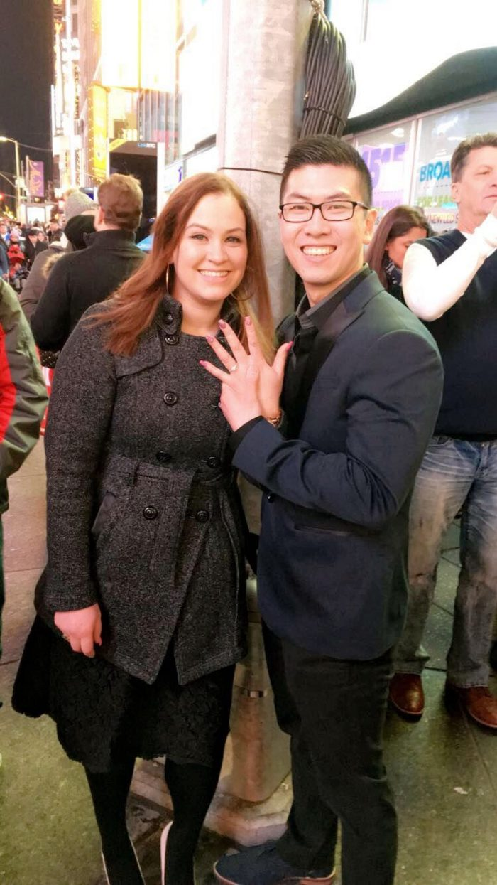 Myrna's Proposal in Times Square New York City
