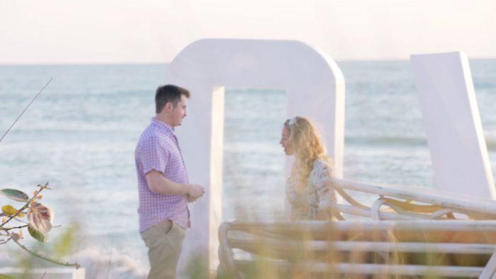 Patricia and John's Engagement in The Ritz Carlton Beach Club, Sarasota, FL