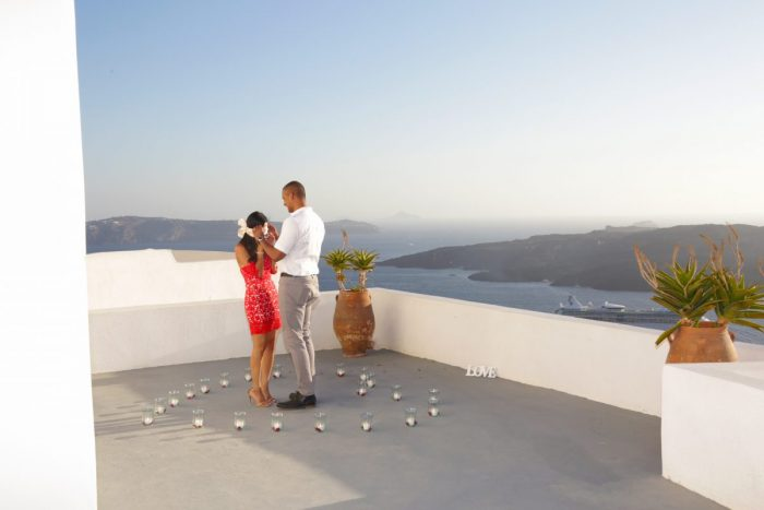 Farheen's Proposal in Santorini, Greece