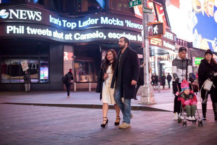 Sophia's Proposal in Times Square