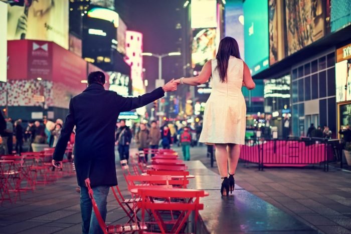 Where to Propose in Times Square