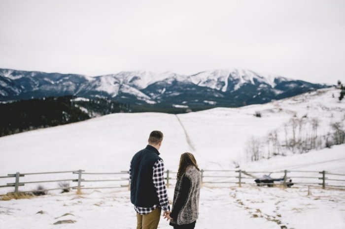 Elyse and Zach's Engagement in Roscoe, Montana