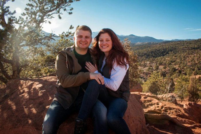 Wedding Proposal Ideas in Garden of the gods in Colorado