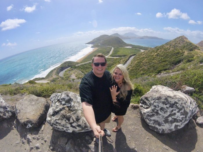 Kelci's Proposal in Timothy Hill - Saint Kitts Island