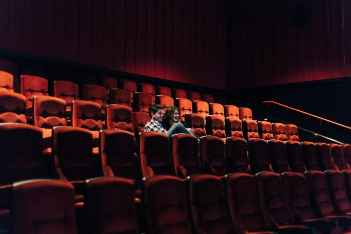 Marriage Proposal Ideas in A movie theater Spencer had rented out in St Louis Park, MN