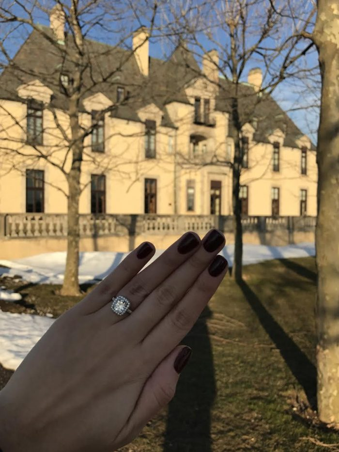 Engagement Proposal Ideas in Oheka Castle in Huntington, New York
