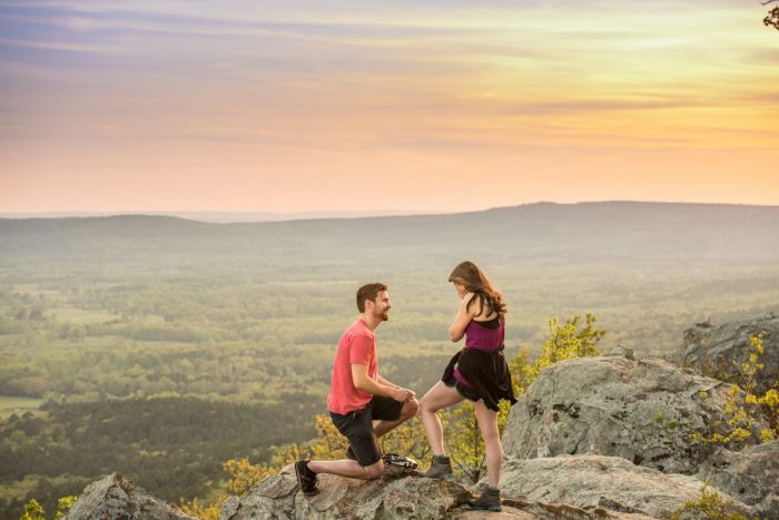 Wedding Proposal Ideas in Stout's Point, Petit Jean State Park