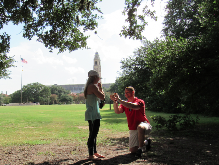 Wedding Proposal Ideas in Louisiana State University