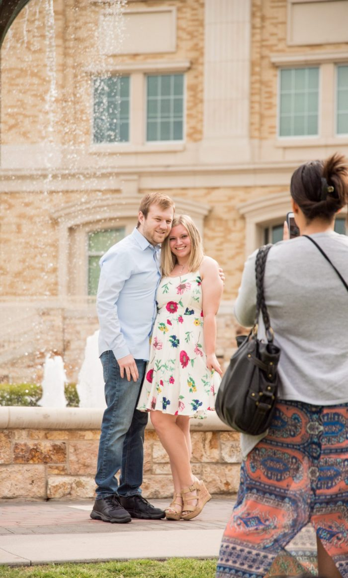 Cami and Jake's Engagement in Texas Christian University