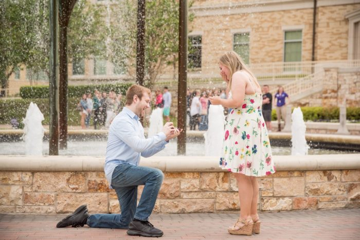 Engagement Proposal Ideas in Texas Christian University