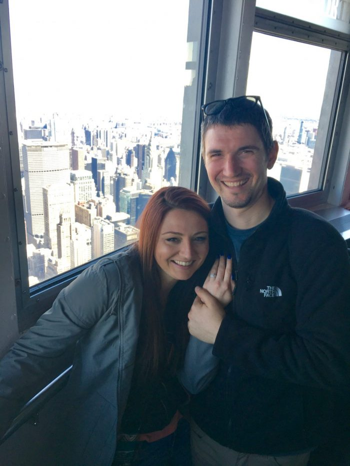 Wedding Proposal Ideas in 102nd floor of the Empire State Building