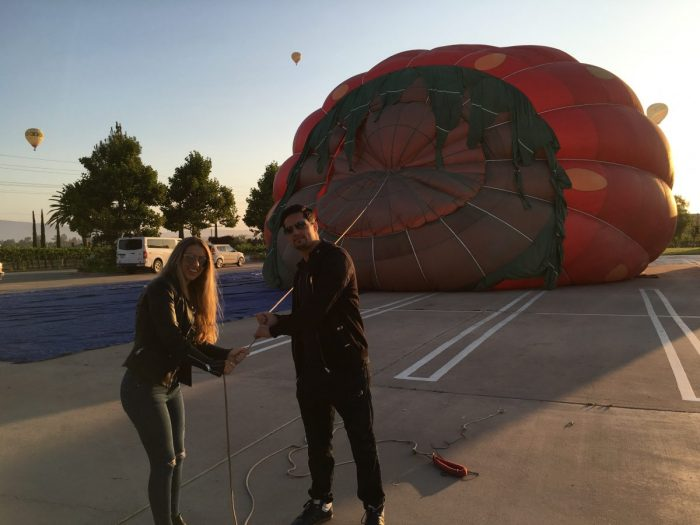 Germaine and Ori's Engagement in Hot Air Balloon ride in Temecula
