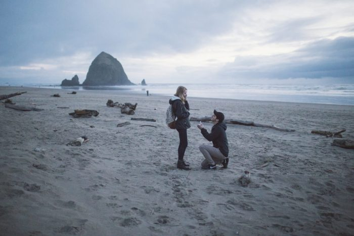 Engagement Proposal Ideas in Cannon Beach, Oregon