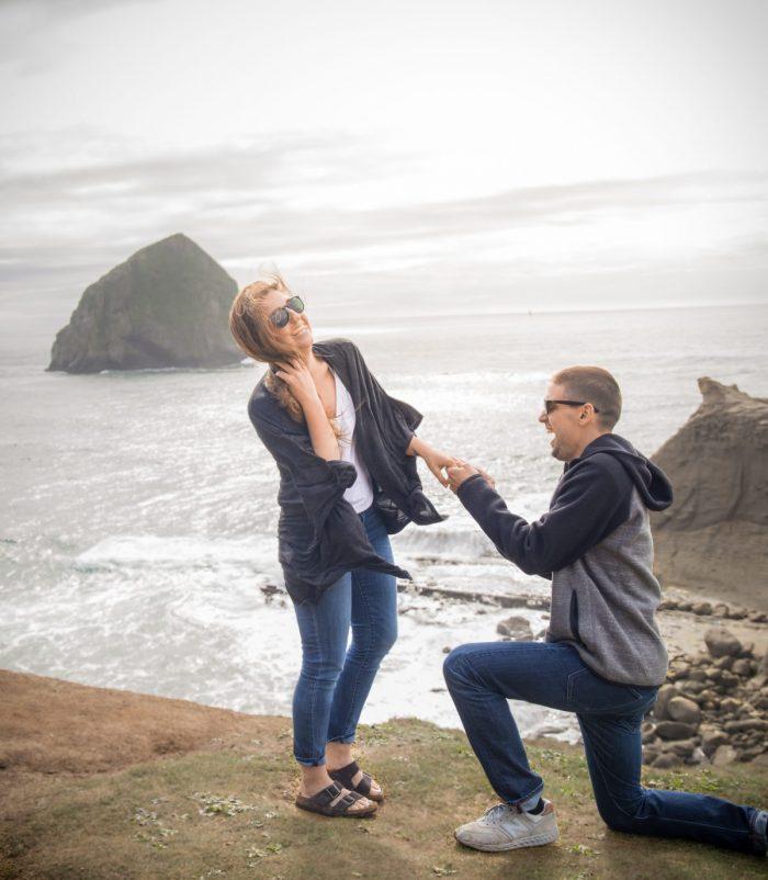 Wedding Proposal Ideas in Cape Kiwanda - Pacific City, Oregon
