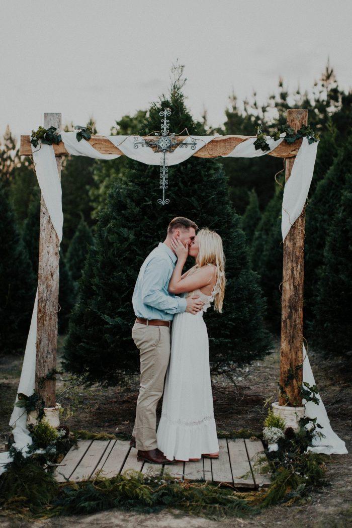 Wedding Proposal Ideas in In a Christmas tree farm