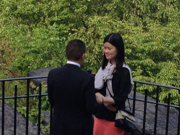 Heng Rui's Proposal in Central Park, New York City