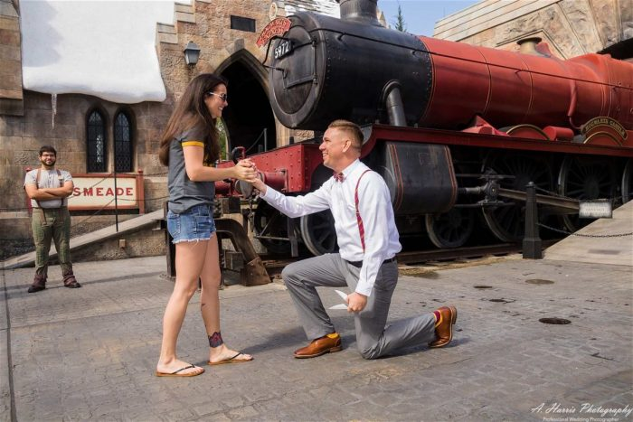 Where to Propose in The Wizarding World of Harry Potter Universal Orlando, FL