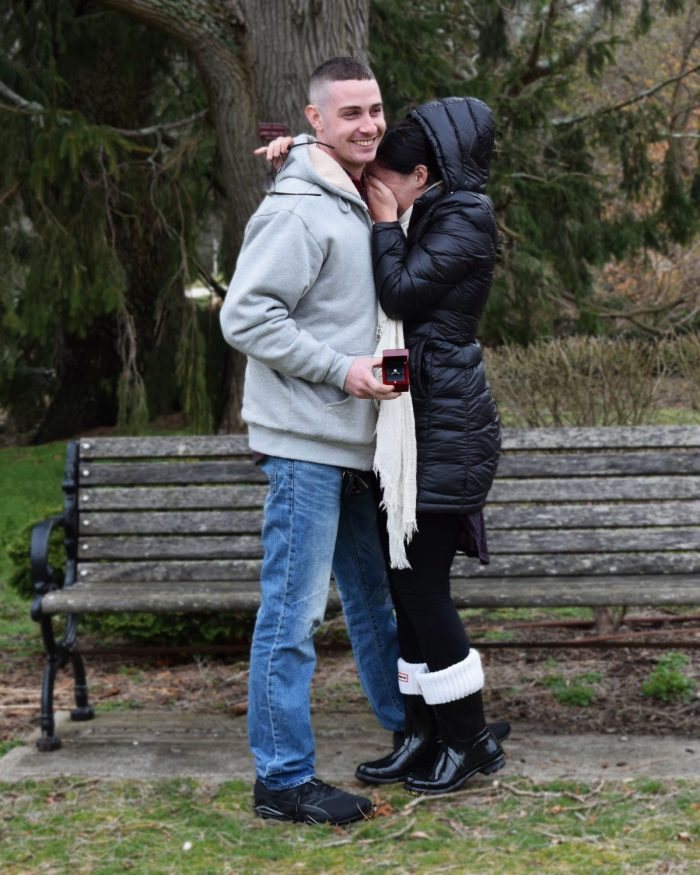 Marriage Proposal Ideas in Bayard Cutting Arboretum -- Great River NY
