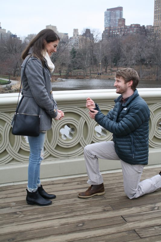 Wedding Proposal Ideas in Bow Bridge, Central Park, New York, New York