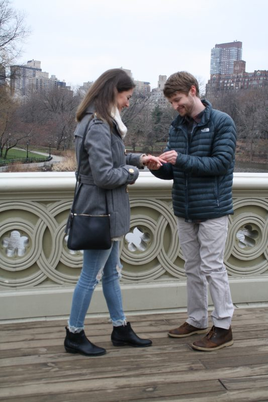 Christa's Proposal in Bow Bridge, Central Park, New York, New York