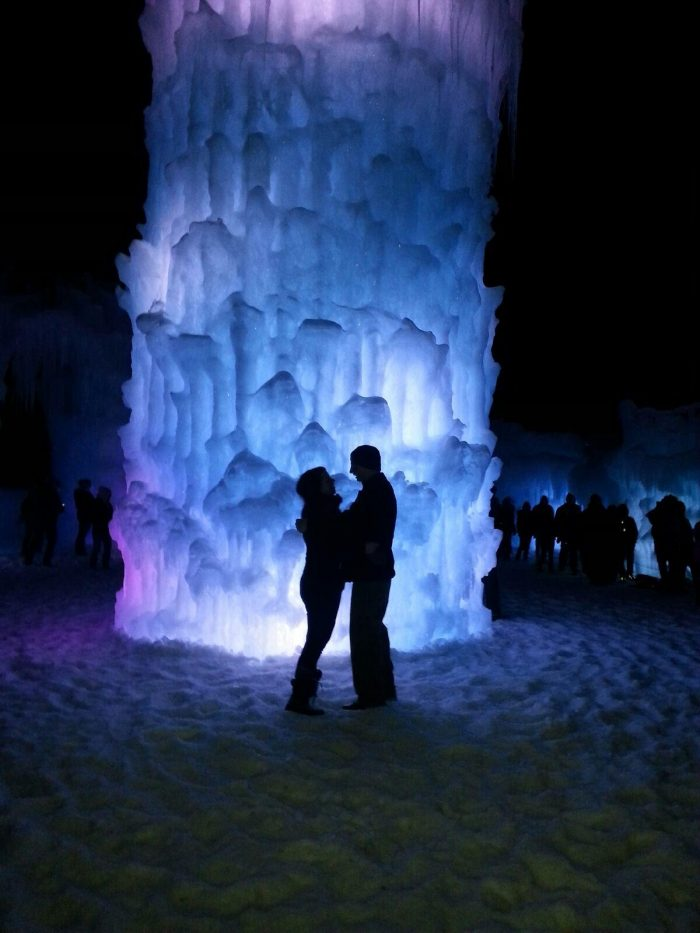 Engagement Proposal Ideas in Ice Castles Lincoln, NH
