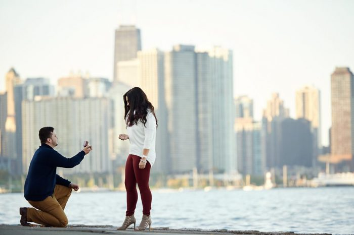 Barbara's Proposal in Downtown Chicago